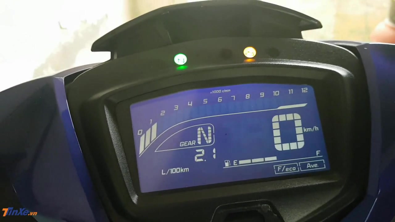 Bảng đồng hồ LCD toàn phần trên Yamaha Exciter 150 2019